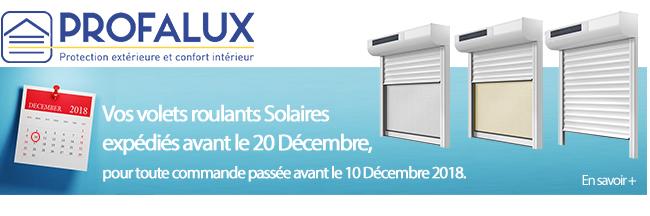 Vos volets roulants Solaires expédiés avant le 20 décembre